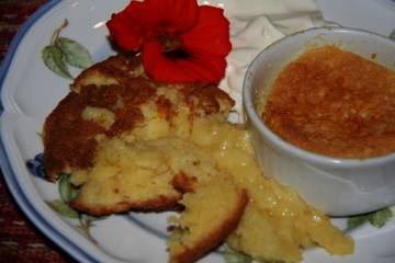 Orange baked pudding